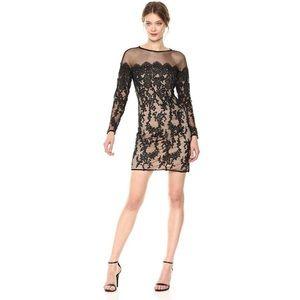 NWT Betsey Johnson Black Lace Illusion Dress sz 4